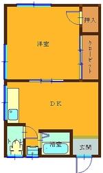 姶良市 西餅田 アパート 1DK 2F...